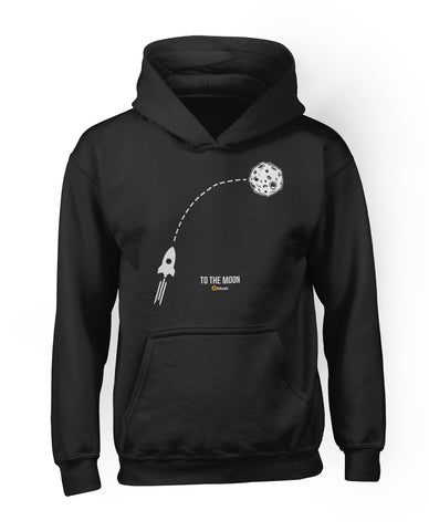 To The Moon Rocket Hoodie