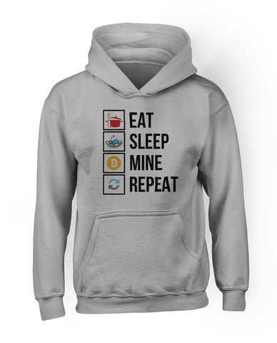 Eat Sleep Mine Repeat Hoodie