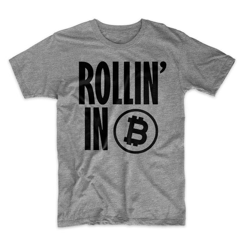 Rollin' In Bitcoin Men's T-Shirt