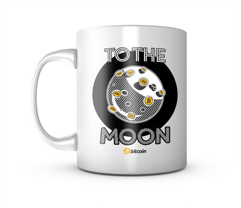 To The Moon Bitcoin Mug