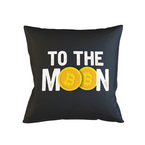 To The Moon Bitcoin Cryptocurrency Pillow Case