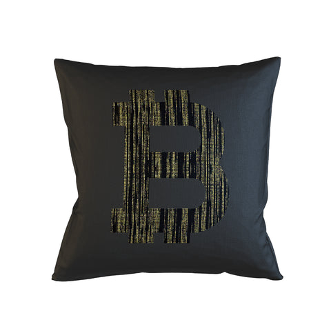 Bitcoin Code Artwork Pillow Case