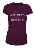 A Woman Who Loves Bitcoin Women's T-Shirt