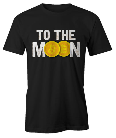 To The Moon Bitcoin Cryptocurrency Men's T-Shirt