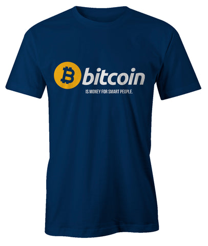 Bitcoin Is Money For Smart People Men's T-Shirt
