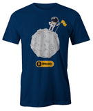 Bitcoin To The Moon Artwork Men's T-Shirt