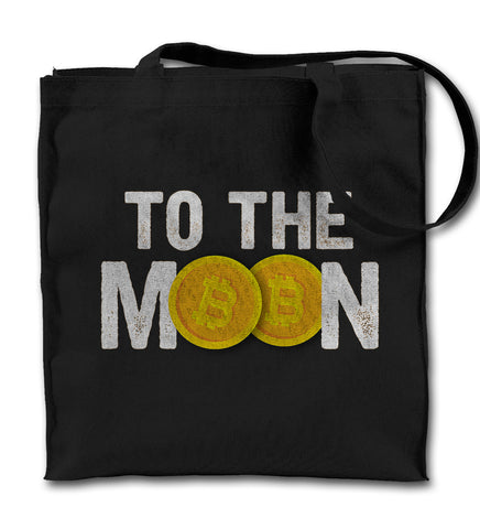 To The Moon Bitcoin Cryptocurrency Tote Bag
