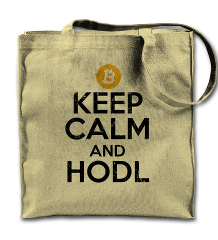Keep Calm And Hodl Tote Bag