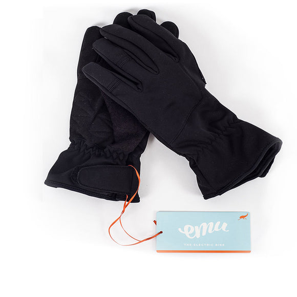 GeoElectricBikes:Emu Cycling Gloves –	Black,Gloves