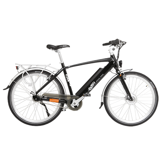 GeoElectricBikes:Emu Crossbar Electric Bike in Black with Battery - 2018 Model,Step Over