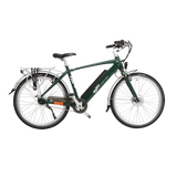 GeoElectricBikes:Emu Crossbar Electric Bike in Racing Green with Battery - 2018 Model,Step Over