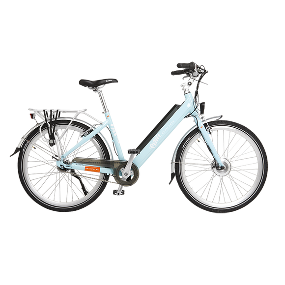 GeoElectricBikes:Emu Step Through Electric Bike in Blue with Battery - 2018 Model,Step Through