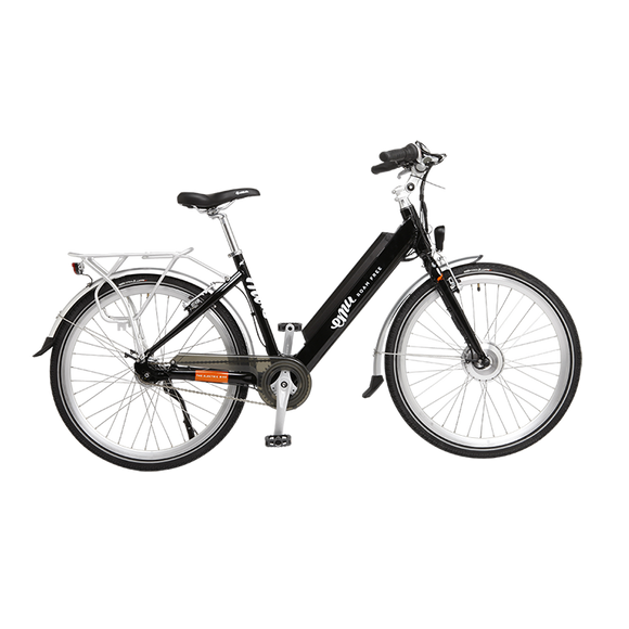 GeoElectricBikes:Emu Step Through Electric Bike in Black with Battery - 2018 Model,Step Through