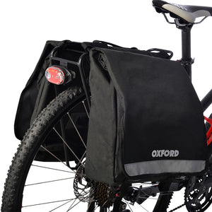 GeoElectricBikes:Oxford Double Cycle Panniers 20L Black,Panniers