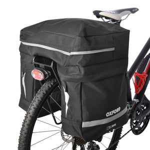 GeoElectricBikes:Oxford Triple Pannier Bag 35L Black,Panniers