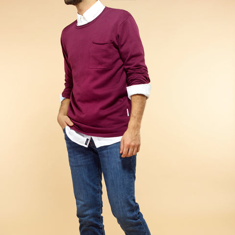 Plum Fine Knit Jumper
