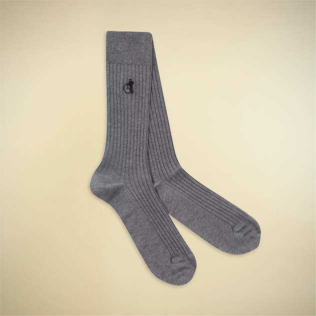 Earl Grey Ribbed Socks