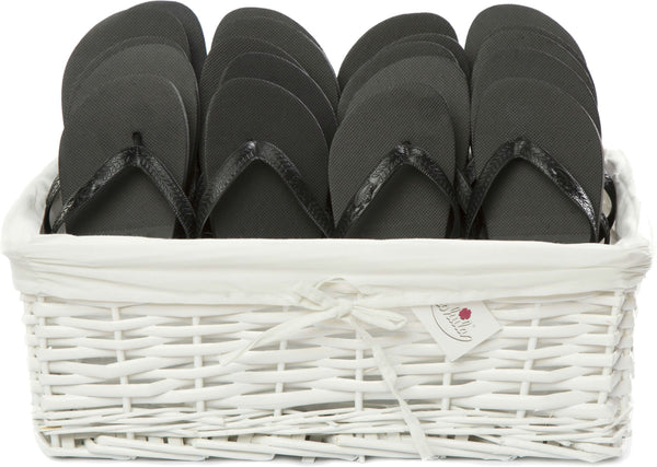 zohula black flip flops party pack