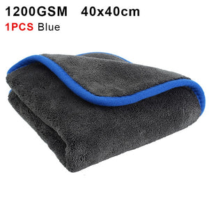 Car Wash 1200GSM Car Detailing Microfiber Towel Car Cleaning Drying Cloth Thick Car Washing Rag for Cars Kitchen Car Care Cloth