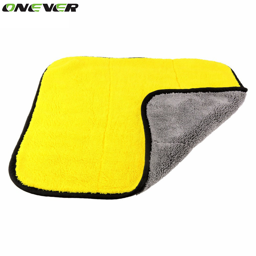45cmx38cm Super Thick Plush Microfiber Car Cleaning Cloths Car Care Microfibre Wax Polishing Detailing Towels