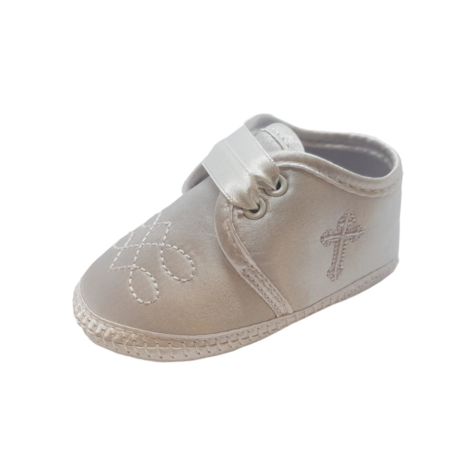 Christening Boots With Cross