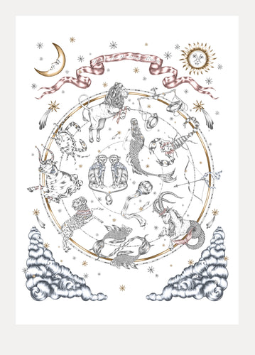 Astrology Art Print (Feature all zodiac signs)