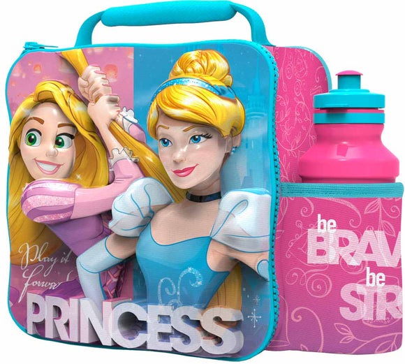 ST364 - 3D Lunch Bag with Bottle - Disney Princess
