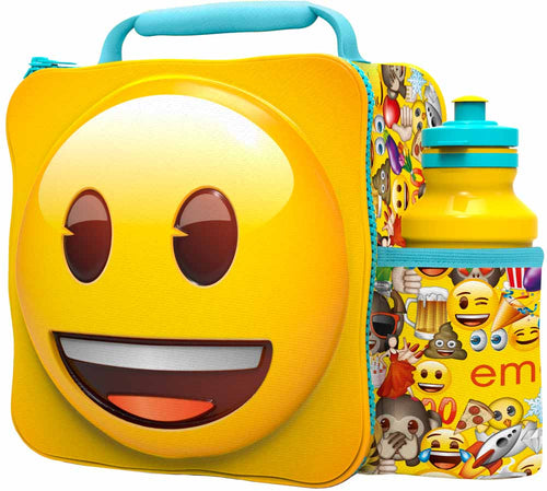 ST368 - 3D Lunch Bag with Bottle - Emoji