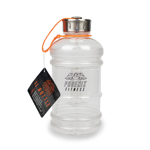 1L Drinks Hydration Water Bottle - Clear