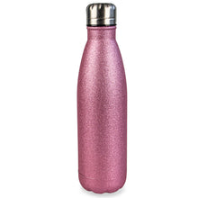 Myga Metal 500ml Drinks Bottle Pink Glitter