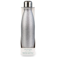 Myga Metal 500ml Drinks Bottle Glitter Sliver