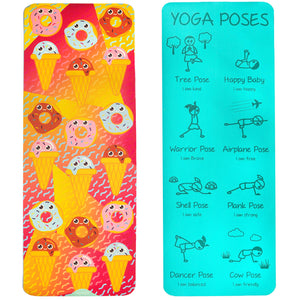Kid's Printed Yoga Mat - Sweet Tooth