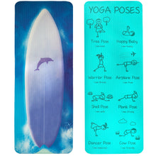Kid's Printed Yoga Mat - Wave Rider