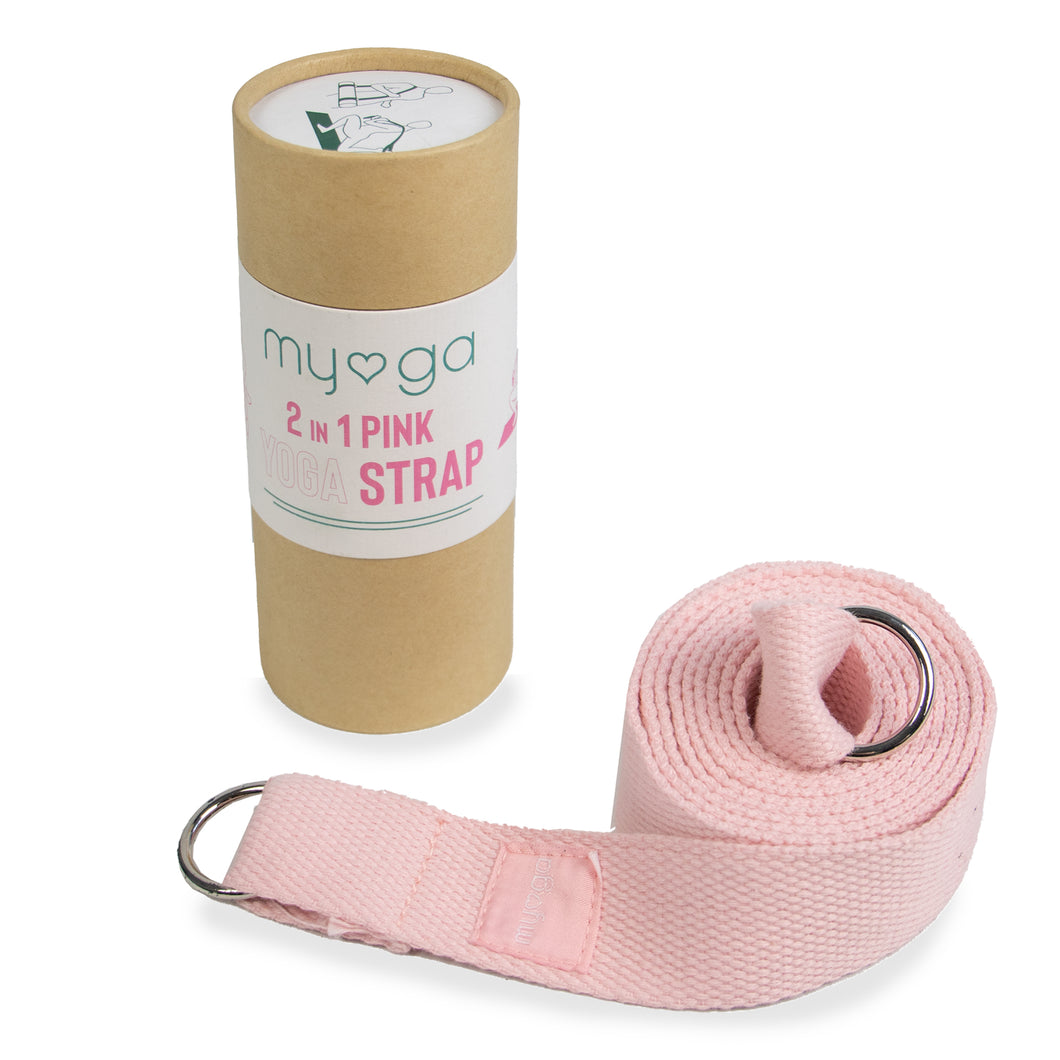 2 in 1 Yoga Belt & Sling - Dusty Pink