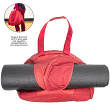 Vegan Red Yoga Handbag