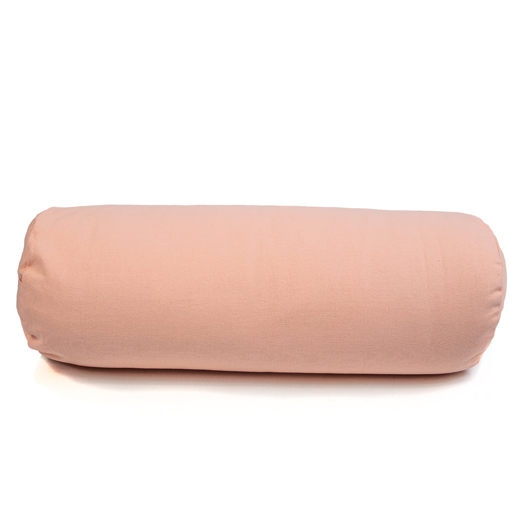 Myga Buckwheat Support Bolster Pillow - Dusty Pink