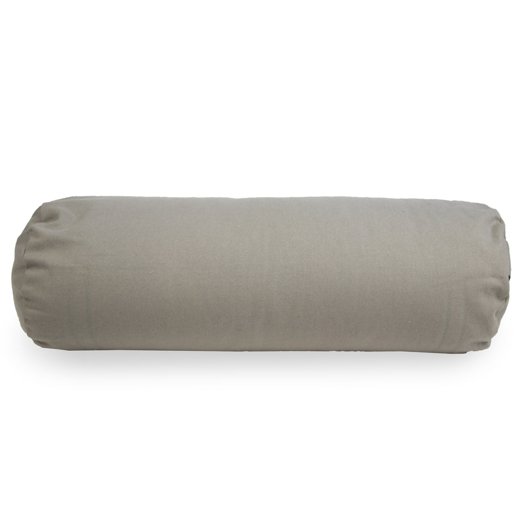 Myga Buckwheat Support Bolster Pillow - Grey