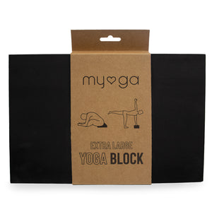 Extra Large Foam Yoga Block - Black