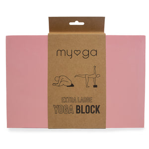 Extra Large Foam Yoga Block - Dusty Pink