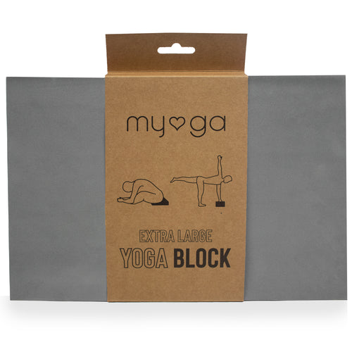 Extra Large Foam Yoga Block - Grey