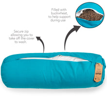 Myga Buckwheat Support Bolster Pillow - Turquoise