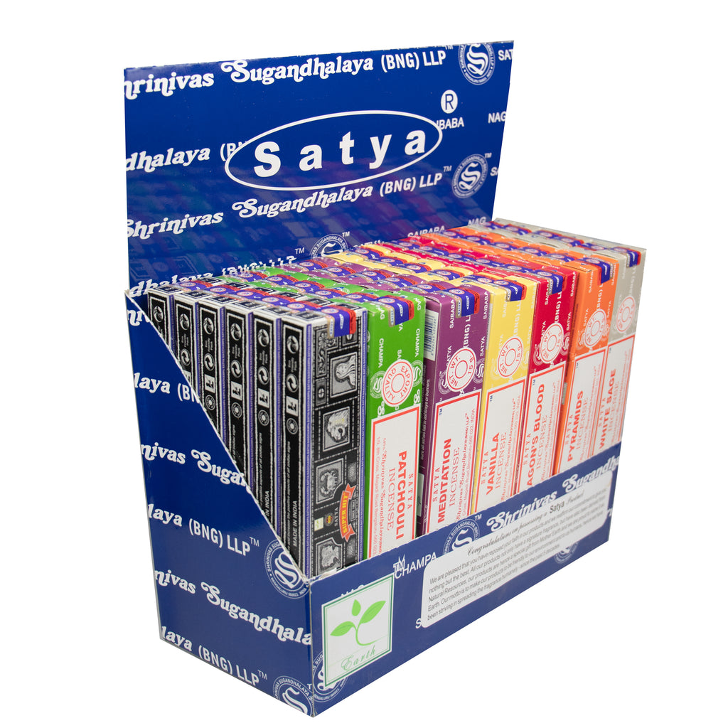Wholesale Satya Incense Joss Sticks Display Box