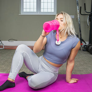 1L Drinks Hydration Water Bottle - Pink
