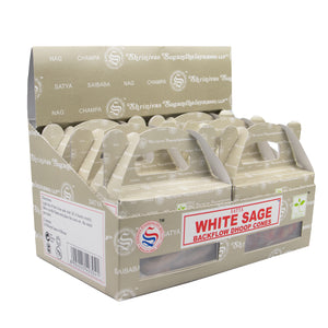 White Sage  - Satya Backflow Dhoop Cones