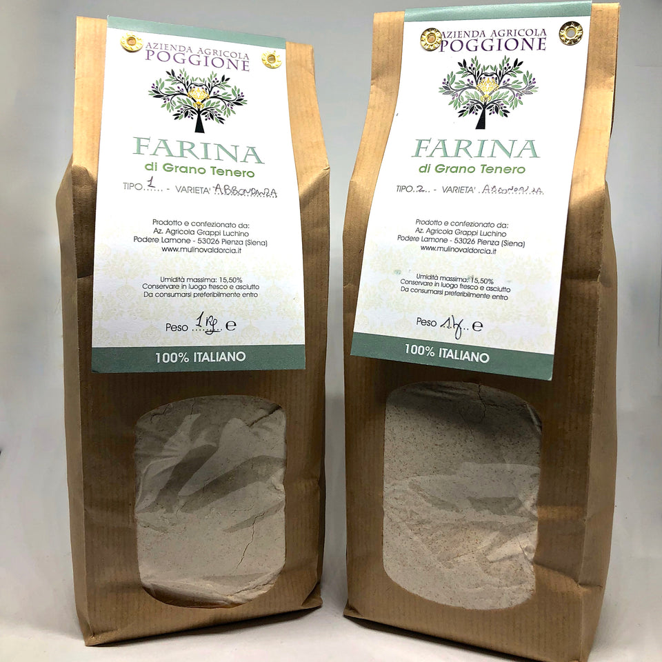 Antique grain flour