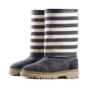 Baabuk wool boots with stripes