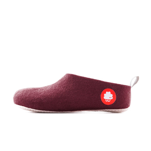 Gus wool slippers red