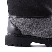Black wool boot