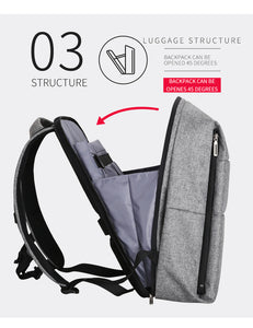 Modernist Look Smart Pro Series Water Resistant Backpack with USB Charging Port - Gadget Backpack
