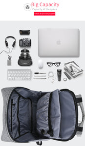 ModernistLook Smart Pro Series Water Resistant Backpack with USB Charging Port - Gadget Backpack